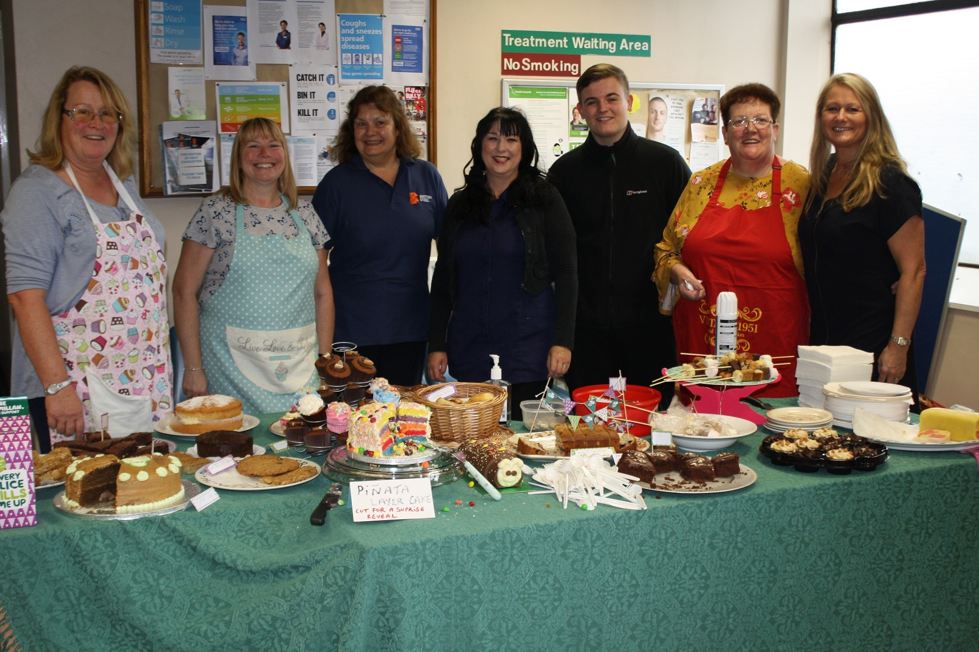 Some of the cakes on offer at British Steel's Macmillan Coffee Mornings.