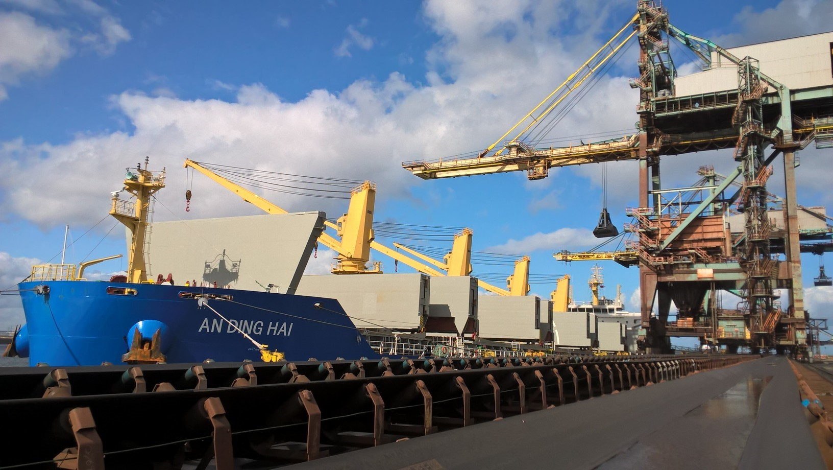 Redcar Bulk Terminal, which is 50% owned by British Steel.