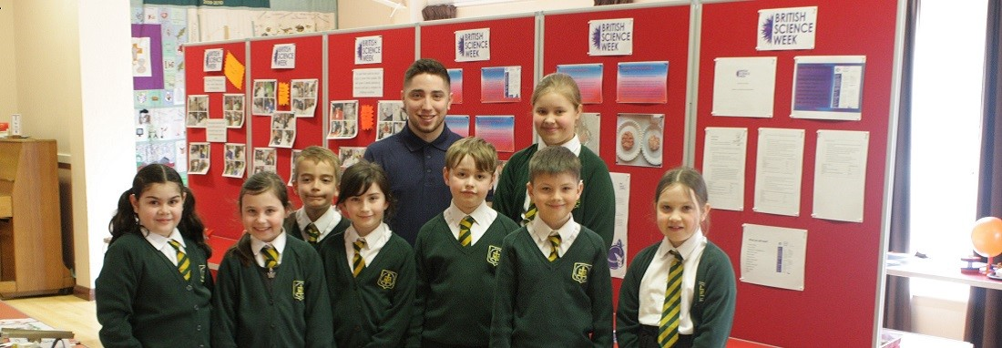 British Steel apprentice Nicholas Moreira White went back to his primary school for the first time in ten years to inspire future generations.
