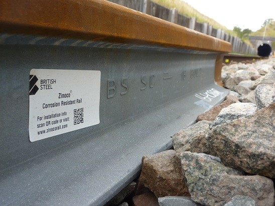 British Steel's ultra-long Zinoco® rail which has been given full product approval by Network Rail