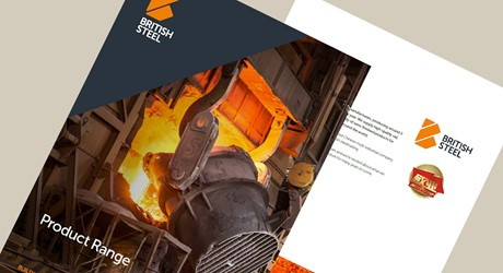 British Steel product range brochure cover and introduction page
