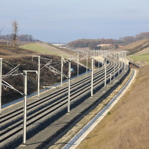 Rail track in France