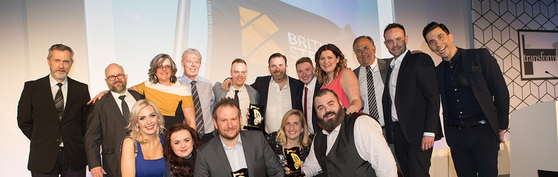 The British Steel team, Ruddocks and Moirae winning awards at the Brand Awards.