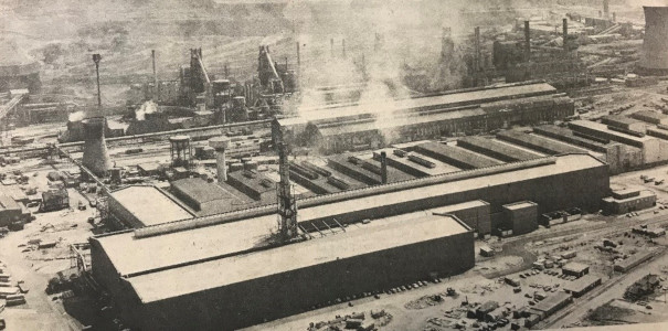 Scunthorpe steelworks being developed.