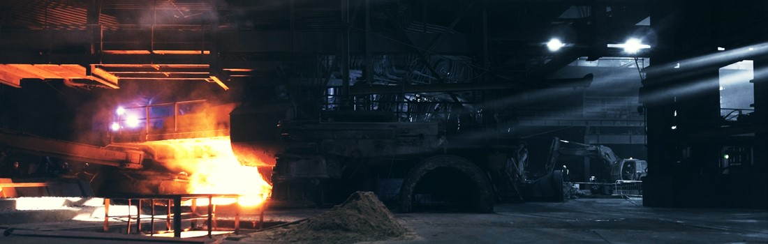 Molten metal at our blast furnaces - a screen capture from our British Steel movie