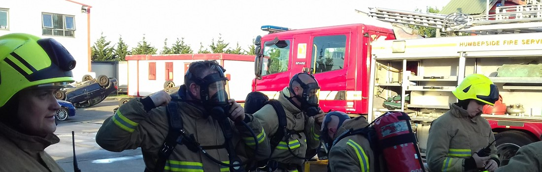 Firefighters prepping to tackle the next job