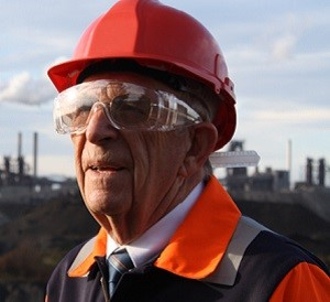 GUIDING LIGHT: Steelworks guide Terry Longmate is celebrating his 80th birthday