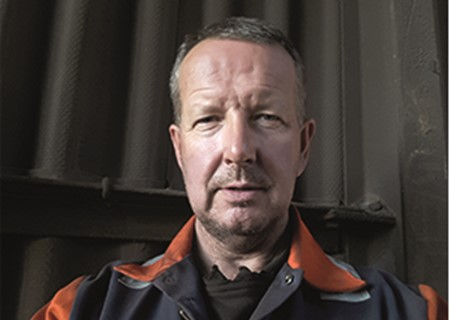 Portrait image of Nick Milnes who joined British Steel in August 2018