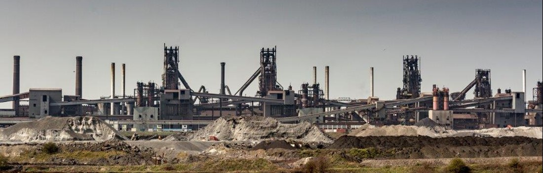 A picture of our Scunthorpe site with our blast furnaces