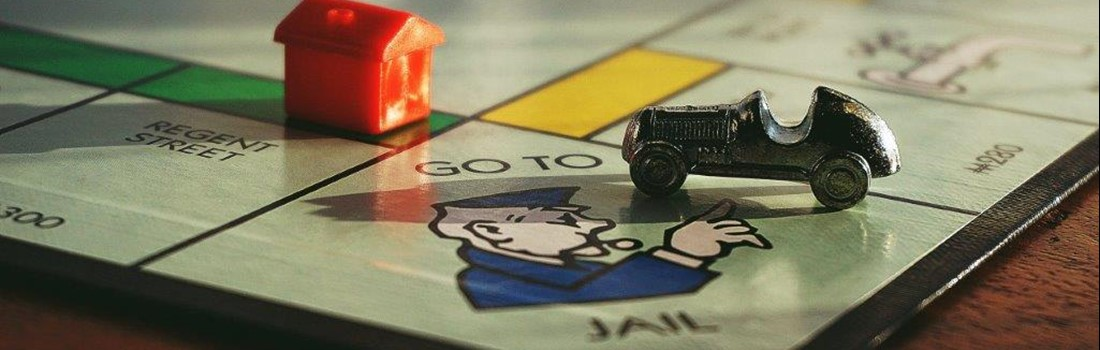 Monopoly board showing the 'go to jail' square