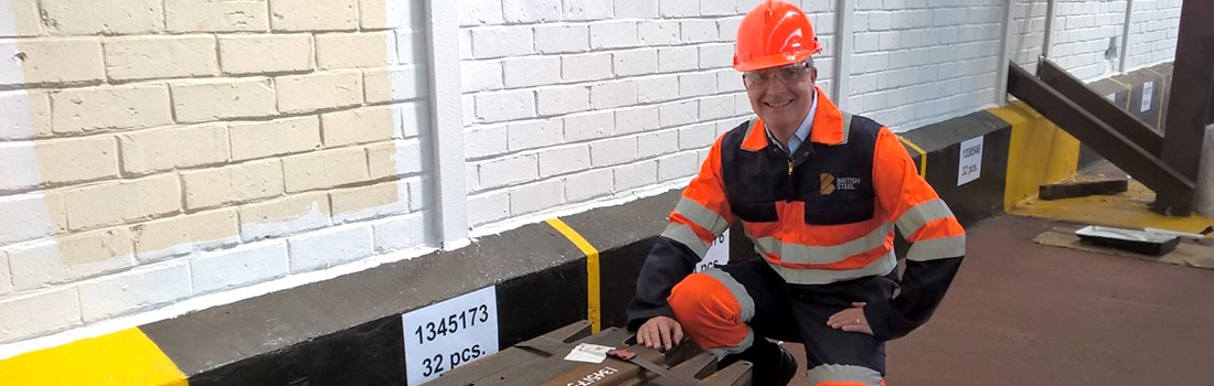 Continuous Improvement Manager Chas Goldring inspects our steel products