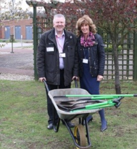 Work has started on a new garden at Lindsey Lodge Hospice following a donation from our Landfill Communities Funding scheme