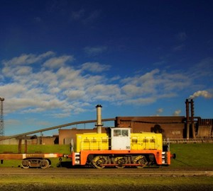 A train travelling around our Scunthorpe site