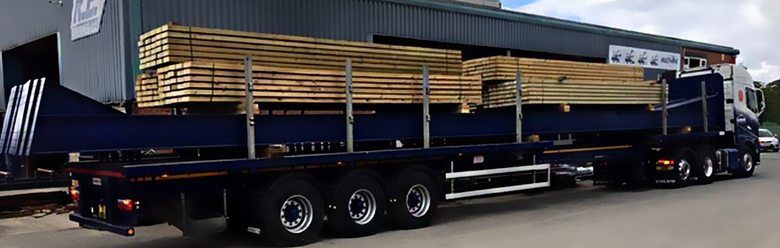 An R.E buildings wagon transporting our steel sections