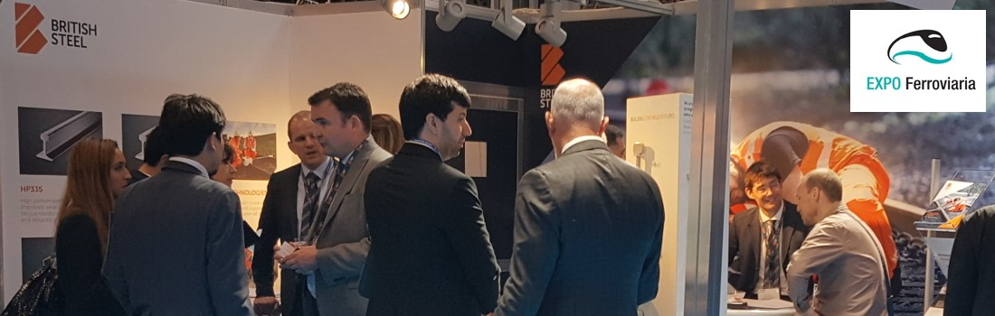 Customers talk with our employees on our exhibition stand