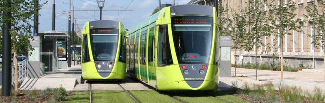 Urban tramway running on British Steel Multi Life grooved rail