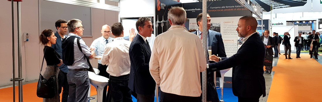 Account Manager Jérôme Bonef and Representative Gianfranco Ionta welcome visitors to our stand