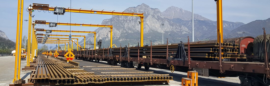 Our new long length logistics centre in Italy for rail operations.