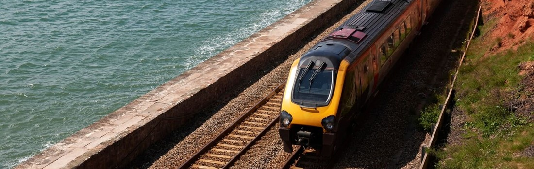 Corrosion protected rail at coastal location in UK.
