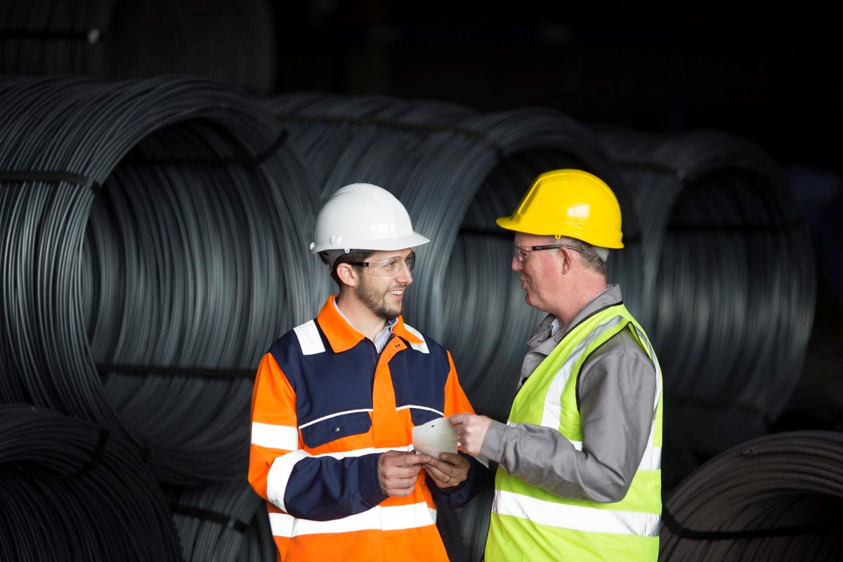 Our employees working in the Wire Rod warehouse.