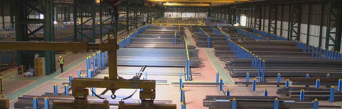 Smaller quantities of steel at our metal centres.