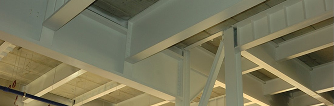 Our steel beams and sections used in local building developments.